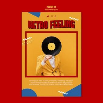 Retro memphis poster thema