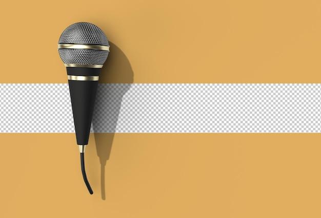 Retro microfoon muziek award model sjabloon, karaoke, radio transparant psd-bestand.