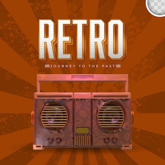 Retro muziek met vintage achtergrond