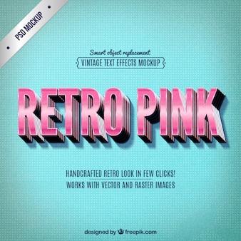 Retro rosa lettering