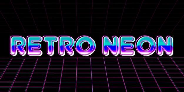 Retro stile neon text effect anni '80