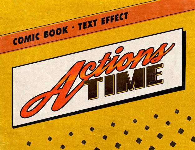 Retro stripboek tekststijl