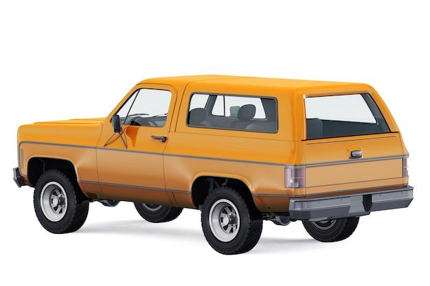 Retro suv 4x4 auto 1976 mockup
