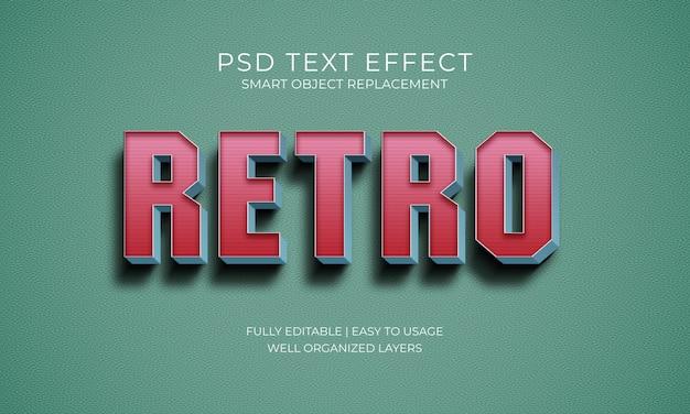 Retro tekst effect