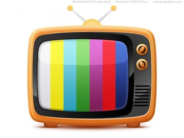 Retro tv icoon (psd)