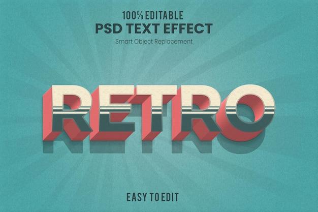 Retro vintage 3d geëxtrudeerd teksteffect