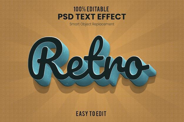 Retro vintage 3d geëxtrudeerde teksteffectactie