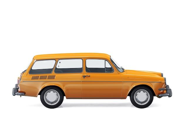 Retro wagen combi auto 1965 mockup