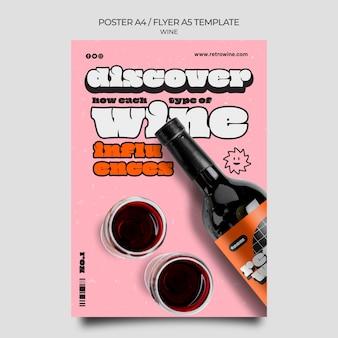 Retro wijn poster sjabloon