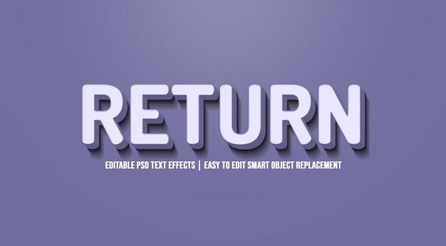 Return text effect premium psd