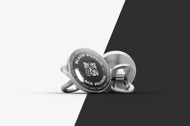Revers badge mockup ontwerp geïsoleerd