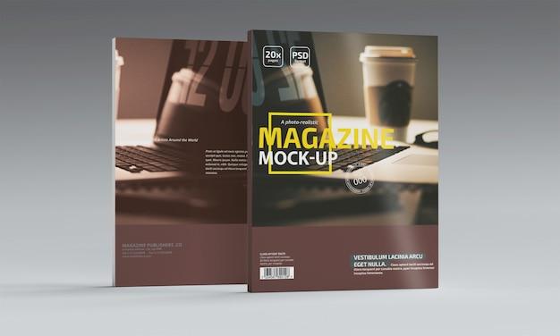 Revista fotorrealista maqueta