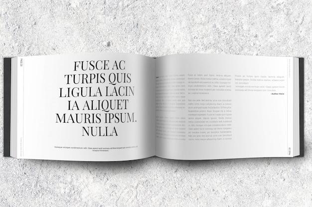 Revista de paisaje o maqueta de folleto