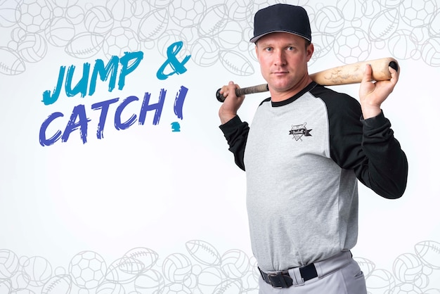 Ritratto del giocatore di baseball professionista