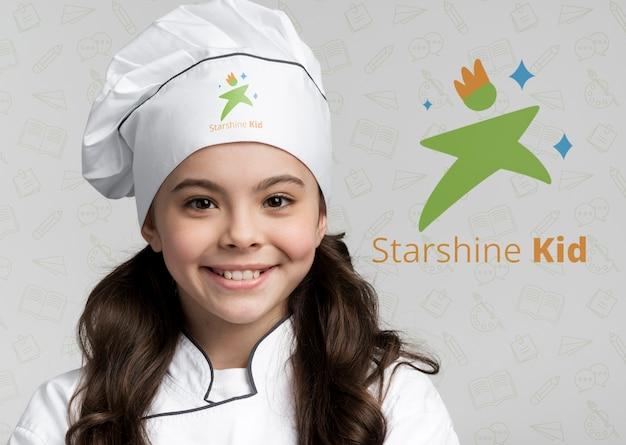 Ritratto di giovane chef da vicino