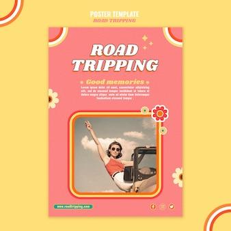 Road struikelen poster sjabloon
