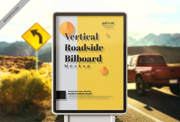 Roadside billboard mockup-sjabloon