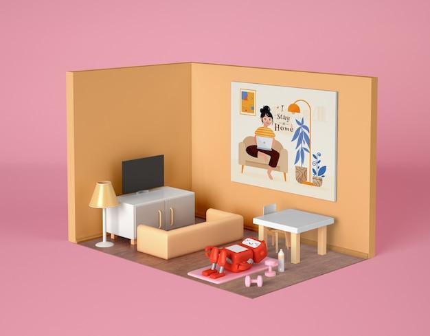 Robot training thuis in zijn kamer