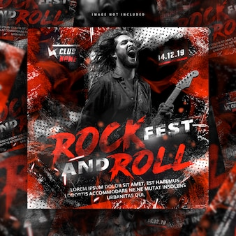 Rock and roll flyer post
