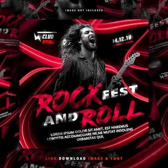 Rock flyer post