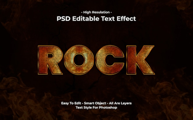 Rock text-effect