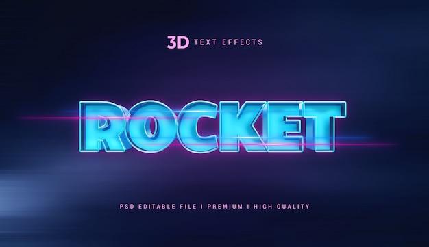 Rocket 3d tekststijleffect mockup