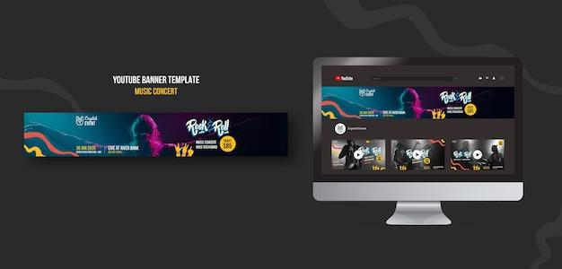 Rockmuziek concert youtube banner
