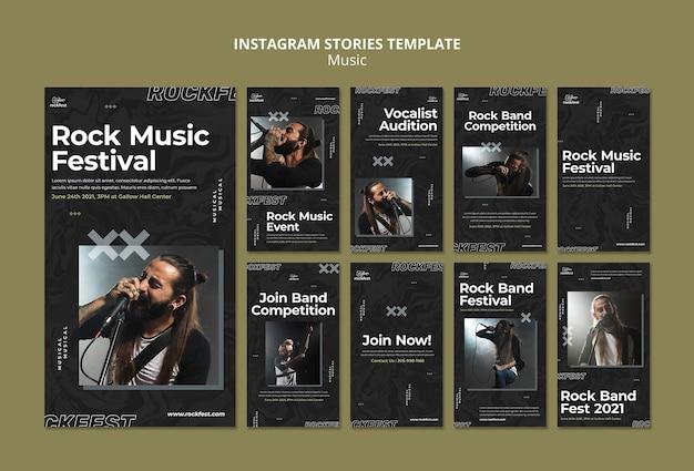 Rockmuziekfestival instagram-verhalen