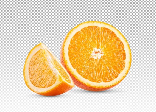 Rodajas de naranja aislado
