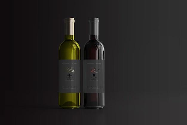 Rode en witte wijnflesmodel