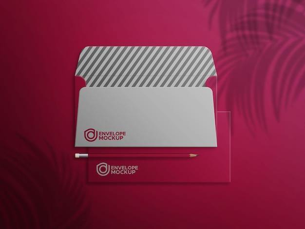Rode envelop voor- en achterkant