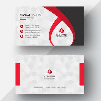 Rode geometrische visitekaartje