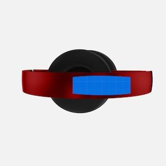 Rode hoofdtelefoon mockup