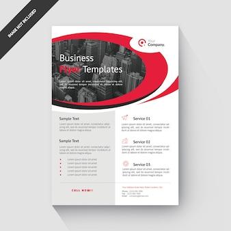 Rode ronde zakelijke folder sjabloon