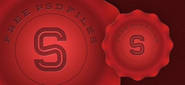 Rode stempel grafisch ontwerp
