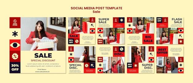 Rode verkoop posts op sociale media