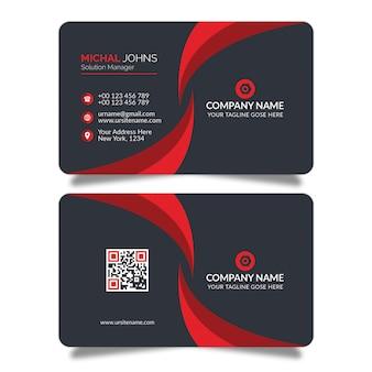 Rode vorm visitekaartje ontwerp psd