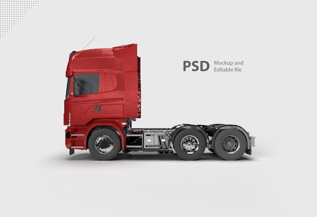 Rode vrachtwagen geïsoleerd