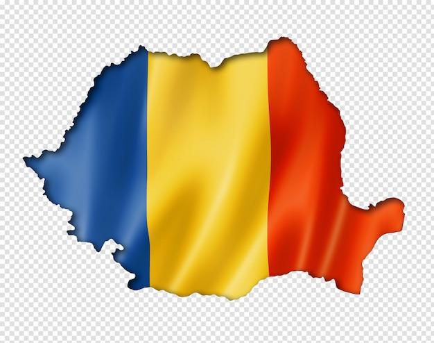 Roemeense vlagkaart