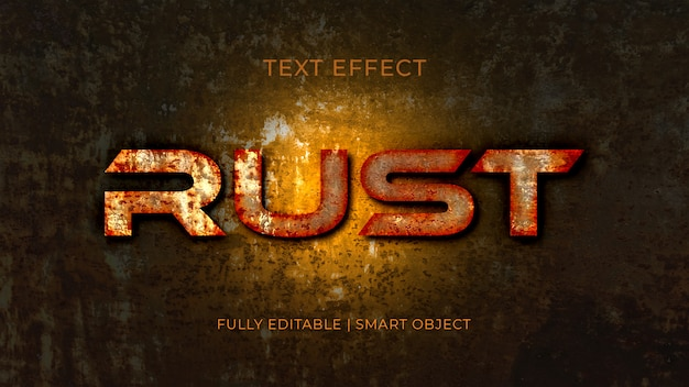 Roest 3d metalen teksteffect