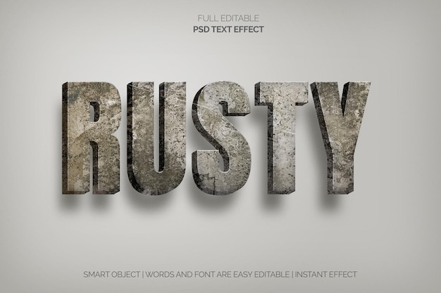 Roest teksteffect