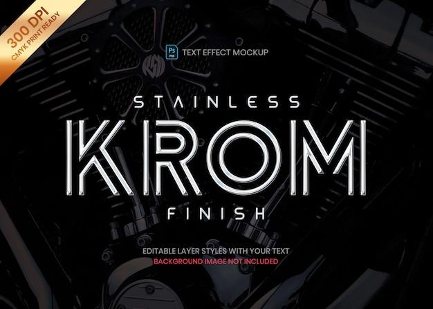 Roestvrij staal chroom logo tekst effect sjabloon
