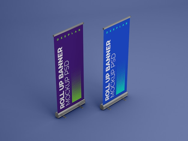 Roll up banner con maqueta de color