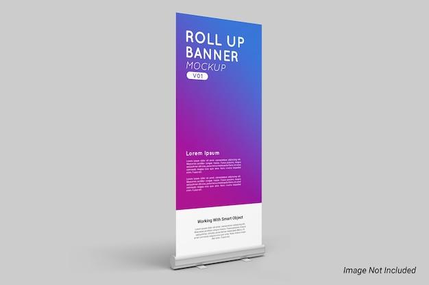 Roll up banner mockup aislado