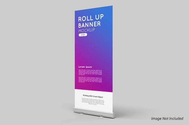 Roll up banner mockup geïsoleerd