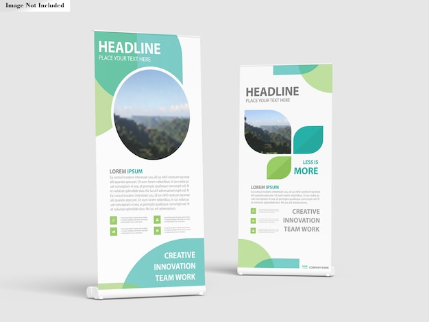 Roll-up banner staat mockup