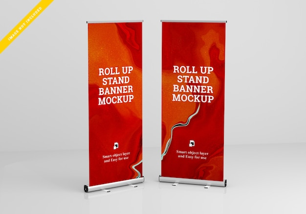 Roll up banner stand mockup. modelo .