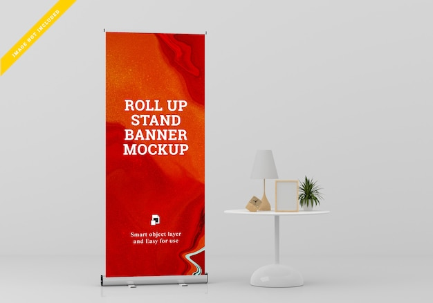 Roll up banner stand mockup. sjabloon psd.