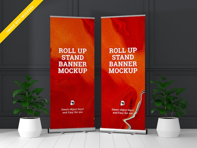 Roll-up banner standaard mockup