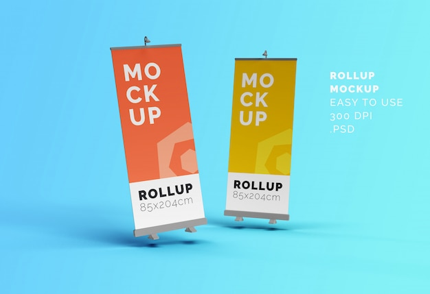 Roll-up banners mock-up